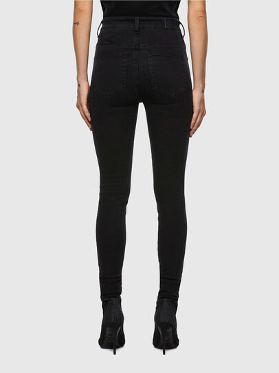Diesel - Slandy High Skinny Jeans 069VW, Black/Dark Grey - Jeans - Image 2