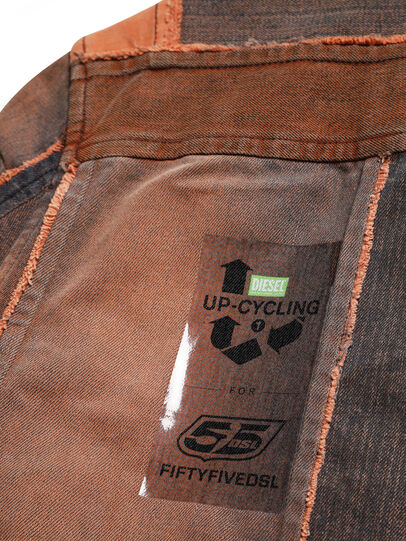 Diesel - D-COACINQUE5, Orange - Denim Jackets - Image 6