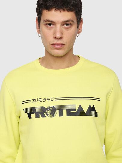 Diesel - S-GIR-Y1, Yellow - Sweatshirts - Image 3