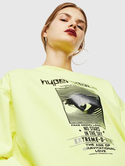 Diesel - F-AKUA, Yellow Fluo - Sweatshirts - Image 3
