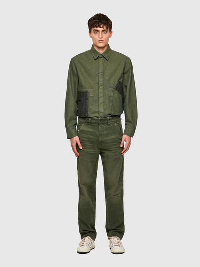 Diesel - D-Azerr Straight JoggJeans® 069WH, Military Green - Jeans - Image 6