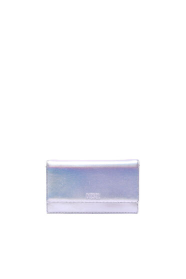 Convertible wallet in iridescent leather