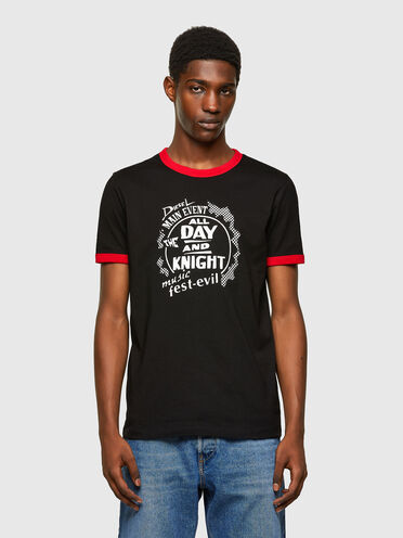 Green Label T-shirt with contrast trim