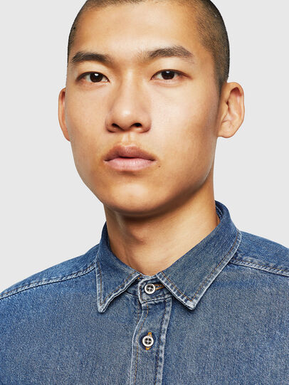 Diesel - D-BER-P, Medium Blue - Denim Shirts - Image 6