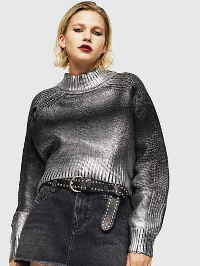 Diesel - M-FOLLY-A, Black/Silver - Sweaters - Image 1