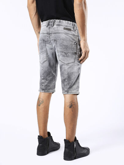 Diesel - KROSHORT JOGGJEANS, Light Grey - Shorts - Image 2