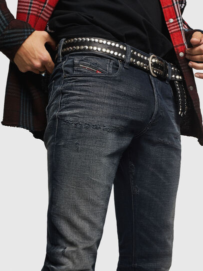 Diesel - Sleenker 0870J, Black/Dark Grey - Jeans - Image 4