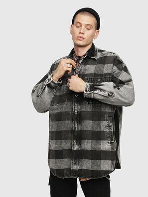 D-LOREN, Black/Grey - Denim Jackets