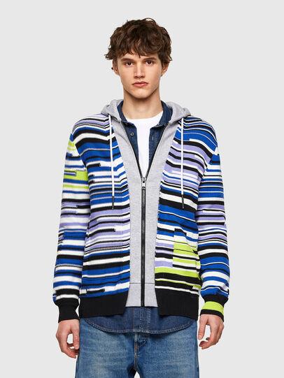 Diesel - K-CITRIN, Grey/Blue - Sweaters - Image 1