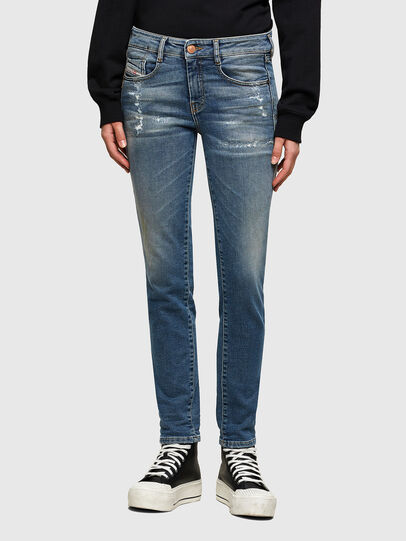 Diesel - D-Ollies Slim JoggJeans® 069UW, Medium Blue - Jeans - Image 1