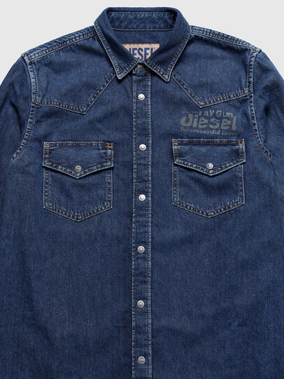 Diesel - US-D-EAST-P, Medium Blue - Denim Shirts - Image 3
