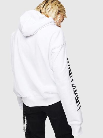 Diesel - F-ALBYHOOK-C, White - Sweatshirts - Image 2