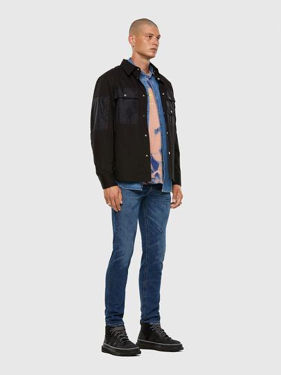 Diesel - Thommer Slim Jeans 009DE, Dark Blue - Jeans - Image 5