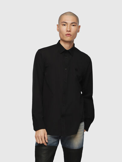 Diesel - S-BILL, Black - Shirts - Image 1
