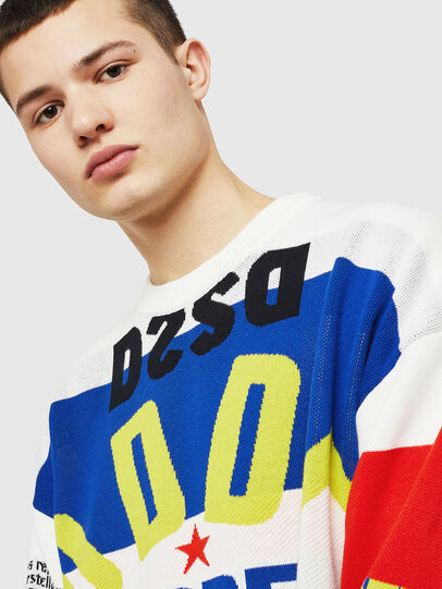 Diesel - K-RUBLO, White/Red/Blue - Sweaters - Image 3