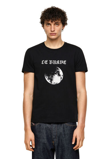 Green Label T-shirt with moon print