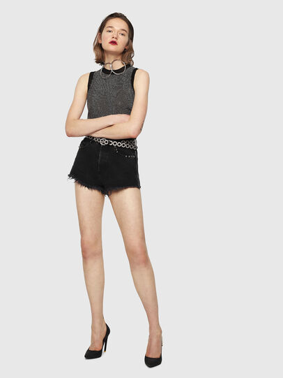 Diesel - DE-EISE-B, Black/Dark grey - Shorts - Image 5