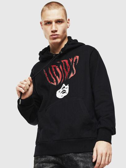 Diesel - S-GIRK-HOOD-J2, Black - Sweatshirts - Image 1