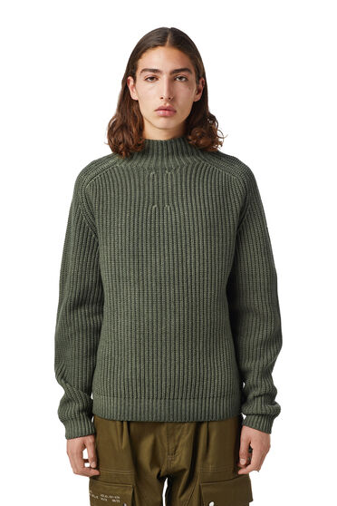 Mock-neck pullover in wool blend