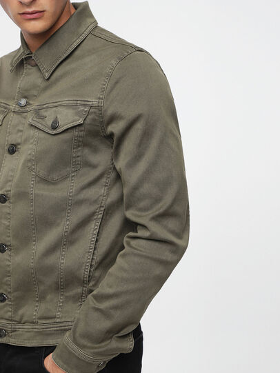 Diesel - ELSHAR JOGGJEANS, Military Green - Denim Jackets - Image 3
