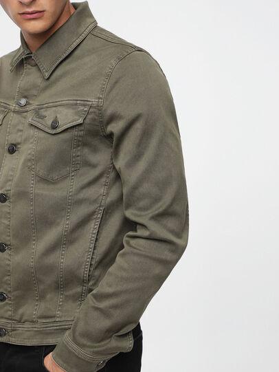 Diesel - ELSHAR JOGGJEANS, Military Green - Denim Jackets - Image 3