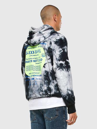 Diesel - S-MOONY, Black/White - Sweatshirts - Image 5