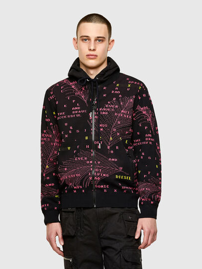 Diesel - K-OREGON, Black/Pink - Sweaters - Image 1