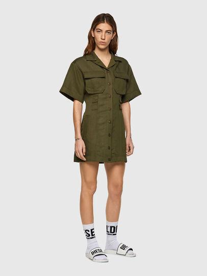Diesel - D-AMABEL, Military Green - Dresses - Image 1