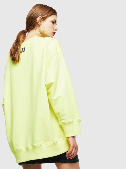 Diesel - F-AKUA, Yellow Fluo - Sweatshirts - Image 2