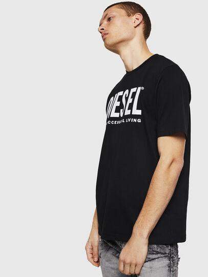 Diesel - T-JUST-LOGO, Black - T-Shirts - Image 4