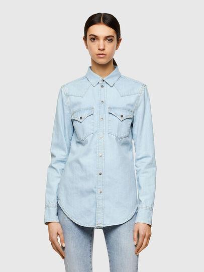 Diesel - DE-RINGY, Azul Claro - Camisas de Denim - Image 1