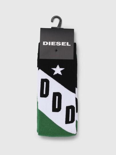 Diesel - SKM-RAY, Green/Black - Socks - Image 2