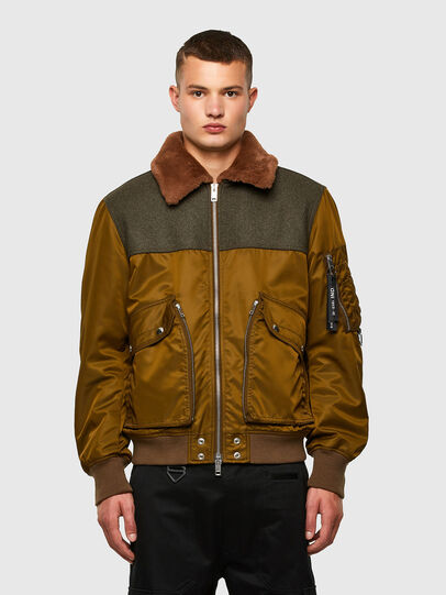 Diesel - W-LOUIS, Dark Green - Winter Jackets - Image 1