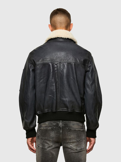 Diesel - L-STEPHEN, Black - Leather jackets - Image 2