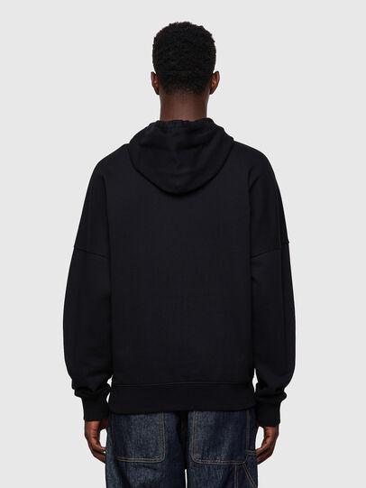 Diesel - S-KRIB-HOOD-ROMOHI, Black - Sweatshirts - Image 2