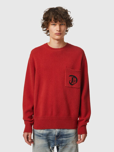 Green Label pullover with D embroidery