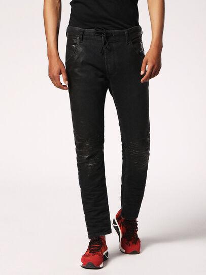 Diesel - Krooley JoggJeans 084JB, Black/Dark grey - Jeans - Image 1