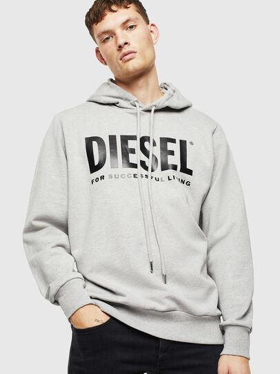 Diesel - S-GIR-HOOD-DIVISION-, Grey - Sweatshirts - Image 1