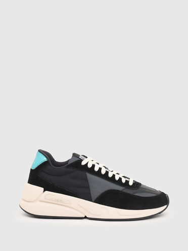 Sneakers in nylon and suede