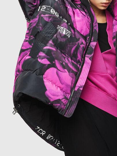 Diesel - W-PIATIGGY, Black/Pink - Winter Jackets - Image 3