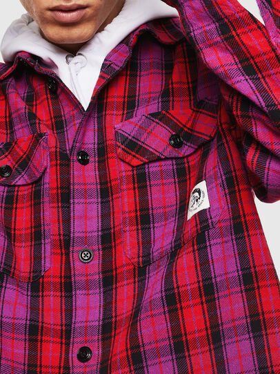 Diesel - S-GERRY-CHECK, Pink - Shirts - Image 5