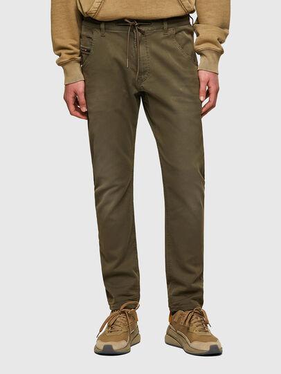 Diesel - Krooley Tapered JoggJeans® 0670M, Dark Green - Jeans - Image 1
