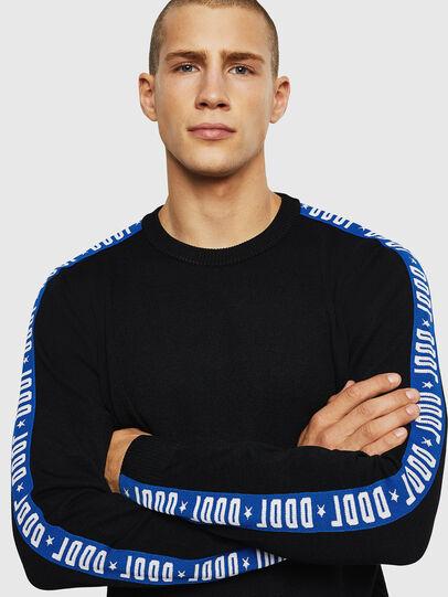 Diesel - K-TRACKY-B, Black/Blue - Sweaters - Image 3