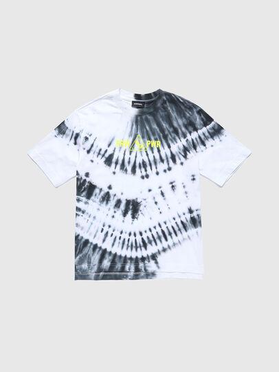 Diesel - TJUSTSLITSX86 OVER, Black/White - T-shirts and Tops - Image 1