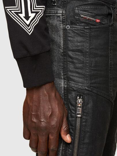 Diesel - D-Vider Carrot Jeans 009QZ, Black/Dark Grey - Jeans - Image 5