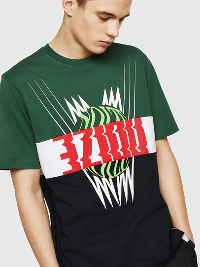 Diesel - T-JUST-A11, Green/Black - T-Shirts - Image 4