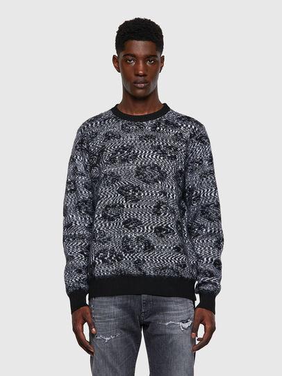 Diesel - K-AZOTIC, Black/Grey - Sweaters - Image 1