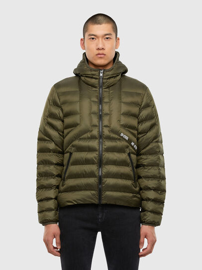 Diesel - W-DWAIN, Military Green - Winter Jackets - Image 1