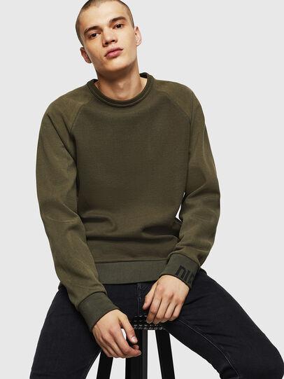 Diesel - S-KOBLER, Military Green - Sweatshirts - Image 4