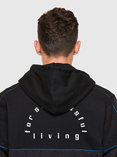 Diesel - S-LAIN-ZIP, Black - Sweatshirts - Image 4